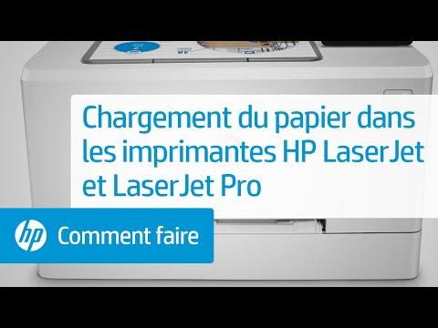 Chargement du papier dans votre imprimante HP LaserJet