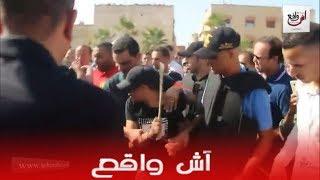إعادة تمثيل جريمة دبح شاب بقرية ولاد موسى بمدينة سلا بحضور ساكنة المنطقة