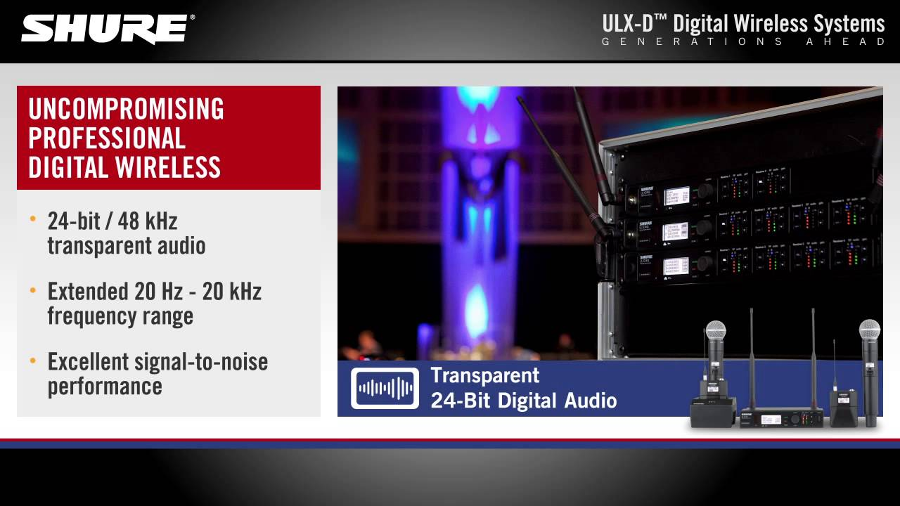 Shure ULX-D Digital Wireless Systems