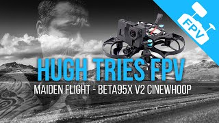 Maiden Flight of the Beta95x V2 Cinewhoop with Naked GoPro - First FPV Flight Outdoors