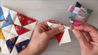 How To Hand Piece A Flying Geese Block