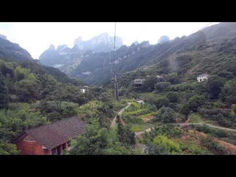 장가계 (Zhangjiajie) - 천문산 케이블카 (张家界 天门山 索道, Tianmen Mt. Cable Car)