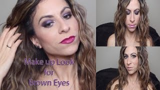 Series: Make Up Looks for Brown Eyes | Purple