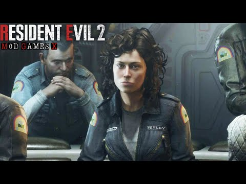 Resident Evil 2 RE Mod - Ellen Ripley