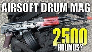 Airsoft Drum Magazine Review  CYMA C38