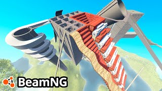 BeamNG Drive Creations : DESTRUCTION ARENA! (BeamNG Drive Crashes)