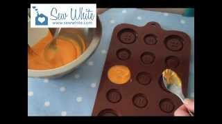 Making Chocolate Buttons Using a Chocolate Button Mould
