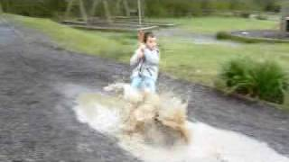 preview picture of video 'Jack on death slide getting wet'