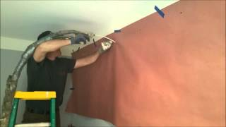 Injection Spray Foam into existing walls