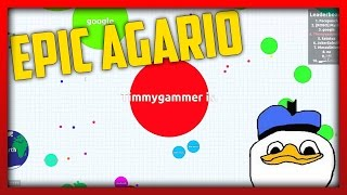 EPIC Agar.io Gameplay w/ONE_shot_GURL