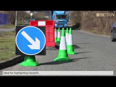 Sand Weighted Traffic Cone   Green | Seton UK