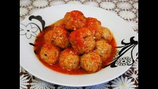 Готовим с ЛЮБОВЬЮ Рецепт ТЕФТЕЛЕЙ с КАПУСТОЙ тефтели в томатном соусе Рецепт тефтели