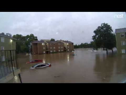 Time-Lapse of Harvey Flooding in Houston