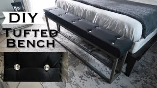 DIY RHINESTONE TUFTED BED BENCH