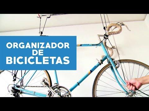 Organizador de bicicletas para techo