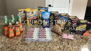 MOSTLY FREE GROCERY HAUL!! COUPON STAR