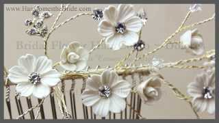 Bohemian Bridal Flower Hair Comb ~ Bridal Hair Accessories And Jewelry By Hair Comes The Bride