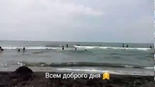 Море. Чёрное море. Пляж в Урэки.