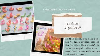 Arabic.Urdu Alphabets. draw,color, recognize,read.Islamic videos, crafts parenting and homeschooling