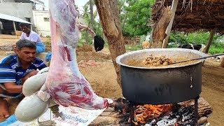 Cooking 20KG FULL GOAT CURRY | Village Style Mutton Kulambu | Cooking Village Food