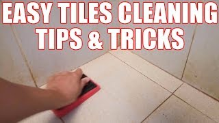 How to Clean Bathroom Tile Easily + Method for Floor Tiles Cleaning