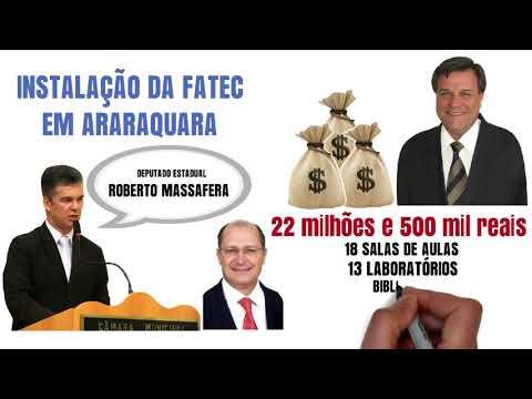FATEC de Araraquara, uma conquista do Deputado Estadual Roberto Massafera