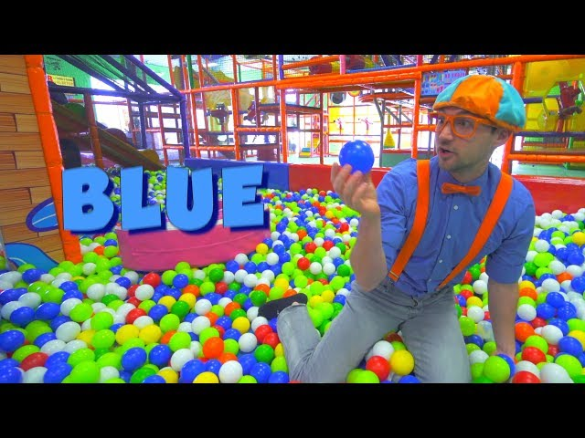 Blippi at the Play Place and Learn Colors Compilation   Safe Educational Videos for Children