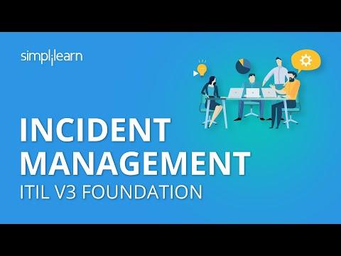 Incident Management | ITIL V3 Foundation | ITIL Basics | Simplilearn ...