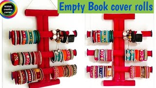 How To Make Bangle Holder Easily At Home#best Bangle Storage Idea#best Bangle Organizer From Waste .
