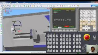 Encontrar el Cero pieza con un simulador CNC para un control FANUC