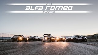 An Alfa Romeo Affair - Driving the Giulia, 4C, GTA, Montreal, and Giulietta at Willow Springs