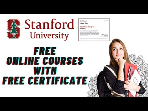 Stanford University Free Online Courses with Free Certificate ...