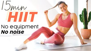 15 MIN ADVANCED HIIT WORKOUT // Intense With No Equipment + No Noise