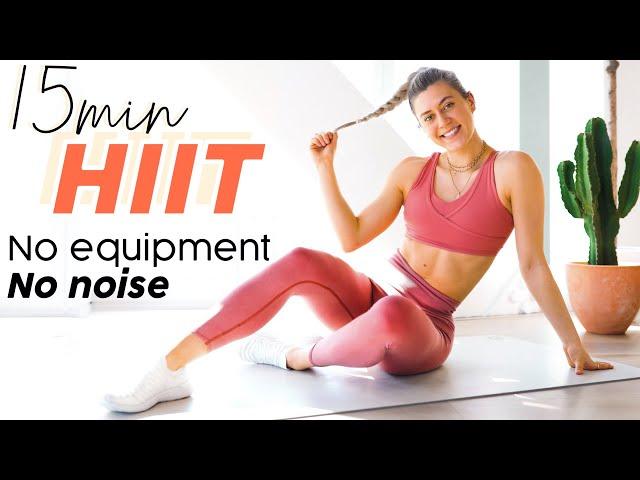 15 MIN HOME HIIT WORKOUT // No equipment, no noise, no impact
