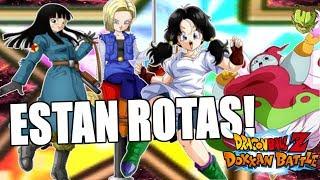 LAS WAIFUS van SOBRADAS! MAI, C18, VIDEL & RIBRIANNE RAINBOW STAR vs SBR | Dokkan Battle en Español