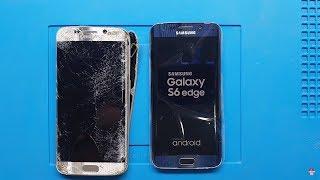 7. KATTAN DÜŞTÜ !!! Samsung Galaxy S6 Edge Ekran, Kasa ve Arka Kapak Değişimi #samsunggalaxys6edge