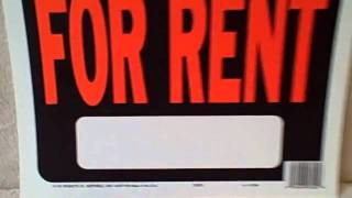 FOR RENT sign 12 inches by 9 inches NEW UNUSED