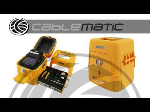 Fusionadora de fibra óptica con alineamiento óptico de precisión -  distribuido por CABLEMATIC ®