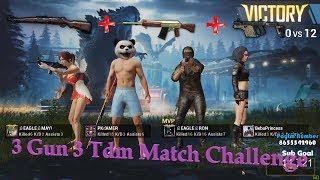 3 Gun 3 Tdm Match Challenge OP GamePlay With Ron Gaming #challenge #pubgm #pkgamer