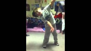 Arieanna's bro dancing to young and in love by Jordan sparks