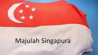 The National Anthem of Singapore Majulah Singapura with Lyrics HQ