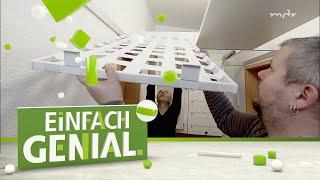 Das Deckenregal für mehr Platz in der Wohnung | Einfach genial | MDR