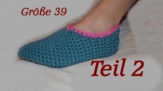 Häkeln Puschen Schuhe Größe 39 Teil 1 Veronika Hug самые