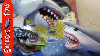 Shark Toys help open Surprise Sea Animal Capsule Toys!