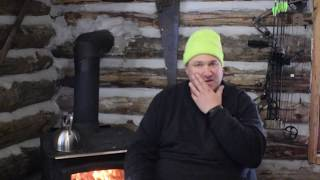 Off Grid Cabin questions answered about chinking and my chimney installation