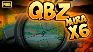 QBZ CON X6 Y SILENCIADA COMBAZO - DUO - PLAYERUNKNOWN