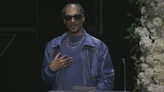 Snoop Dogg Gives Powerful Message Honored Nipsey Hussle: