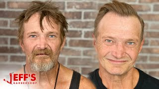 HOMELESS MAN MAKEOVER AMAZING TRANSFORMATION PART 2 *heart warming*
