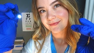 ASMR CRANIAL NERVE EXAM DOCTOR ROLE PLAY! Soft Spoken, Crinkle Glove Sounds, Writing