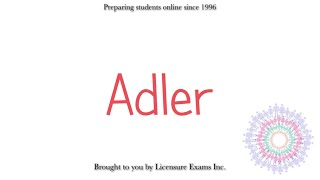 Adlerian Therapy  - ASWB, NCE, NCMHCE, MFT Exam Prep and Review